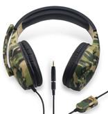 Robotsky Camo Gaming Headset Stereo Headphones Headphones with Microphone