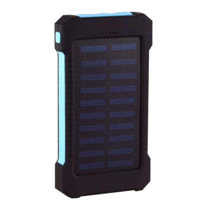 Solar Charger 30.000mAh Externe Powerbank Zonnepaneel Noodaccu Batterij Oplader Blauw