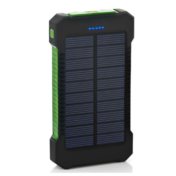 Solar Charger 30.000mAh Externe Powerbank Zonnepaneel Noodaccu Batterij Oplader Groen
