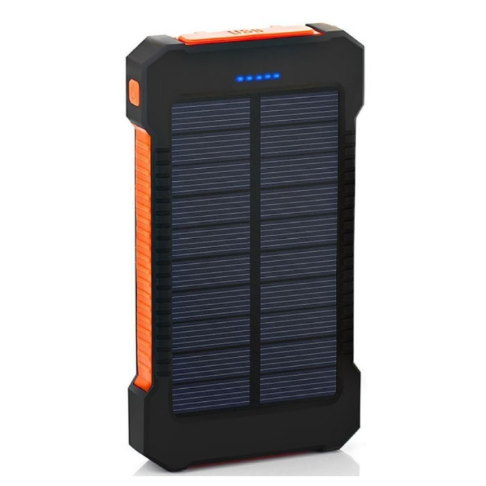 Solar Charger 30.000mAh Externe Powerbank Zonnepaneel Noodaccu Batterij Oplader Oranje