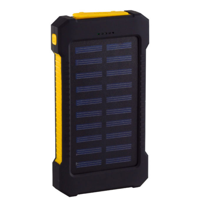 Solar Charger 30,000mAh External Powerbank Solar Panel Emergency Battery Battery Charger Yellow