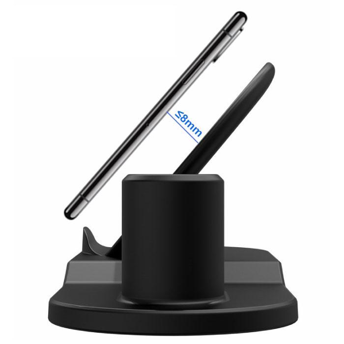 Stuff Certified® 3 en 1 chargeur sans fil pour Apple iPhone / iWatch / AirPod - Station de recharge Dock 18W Chemin de recharge sans fil blanc