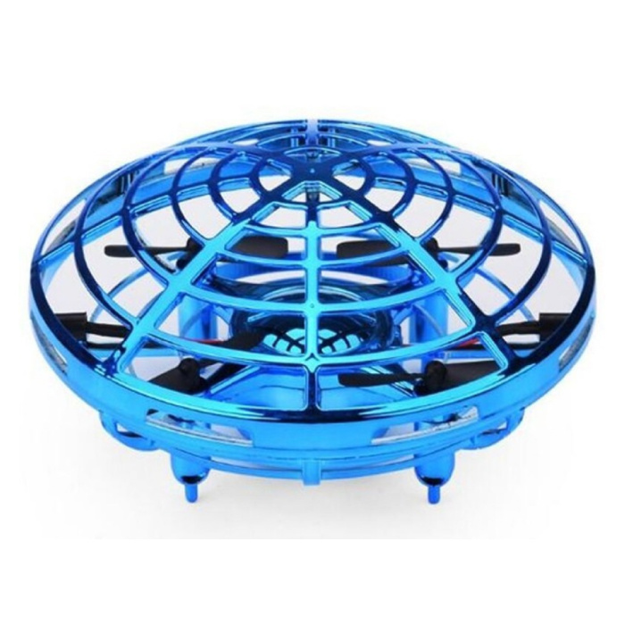 Mini RC UFO Drone Quadcopter Helikopter Speelgoed Blauw