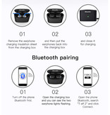 Bluedio T-Elf 2 Draadloze Oortjes TWS Touch Control Bluetooth 5.0 Ear Wireless Buds Earphones Earbuds Oortelefoon Zwart