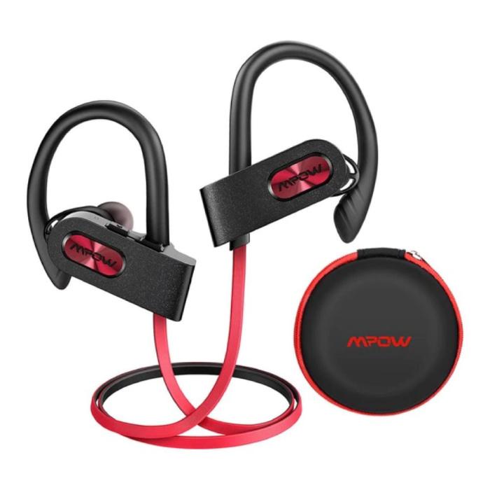 Flame 2 TWS Écouteurs sans fil avec crochet d'oreille Bluetooth 5.0 Air Pods sans fil Écouteurs Écouteurs 150mAh Rouge