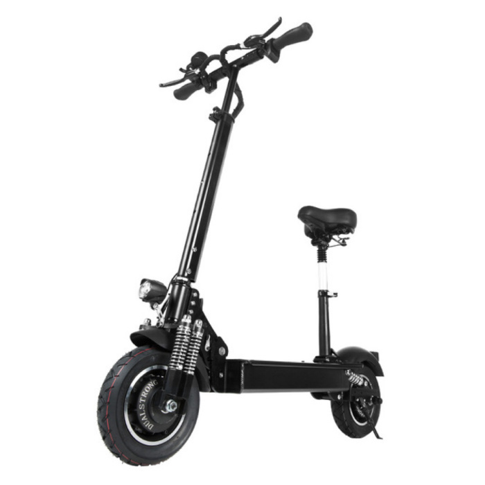 """Electric Off-Road Smart E Step Scooter With Seat - 2000W - 23.4 Ah Battery - 11 """"- Black"""
