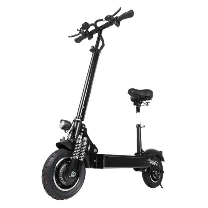 """Trottinette électrique tout-terrain Smart E Step T10 avec siège - 2000 W, batterie 23,4 Ah - 11 """"- noir"""