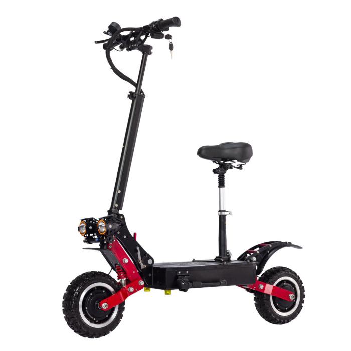T85 Trottinette électrique tout-terrain Smart E Step avec siège - 5600W - Batterie 28Ah - Roues de 10 pouces