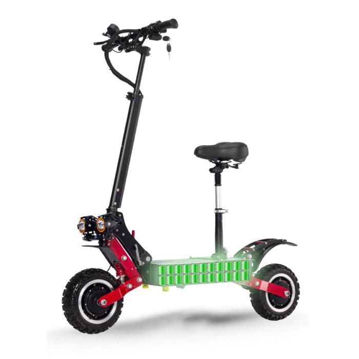 Janobike T85 Elektrische Off-Road Smart E Step Scooter met Zitje - 5600W - 32Ah Batterij - 10 inch Wielen