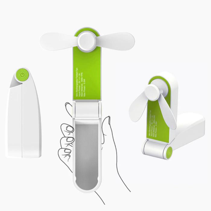 Stuff Certified® C28 Oplaadbare Draagbare Ventilator - Handventilator Op Batterij Groen