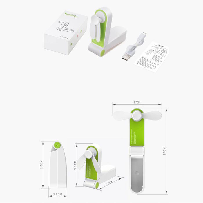 Stuff Certified® Ventilateur portable rechargeable C28 - Ventilateur à main sur batterie rose