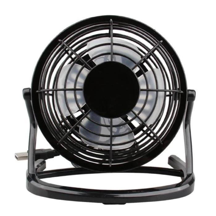 Rechargeable Portable Fan - 2500rpm Black Hand Fan