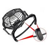 Stuff Certified® Oplaadbare Draagbare Ventilator - Handventilator 2500RPM Zwart