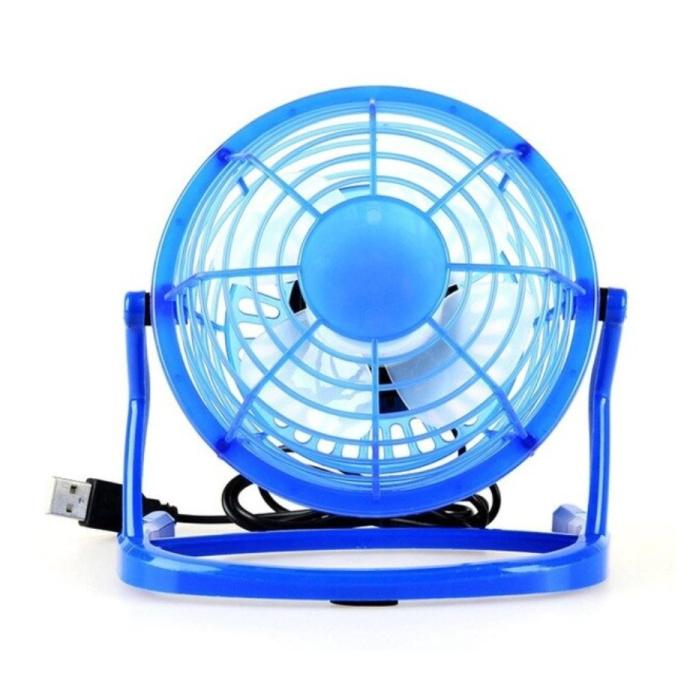 Rechargeable Portable Fan - Hand Fan 2500RPM Blue