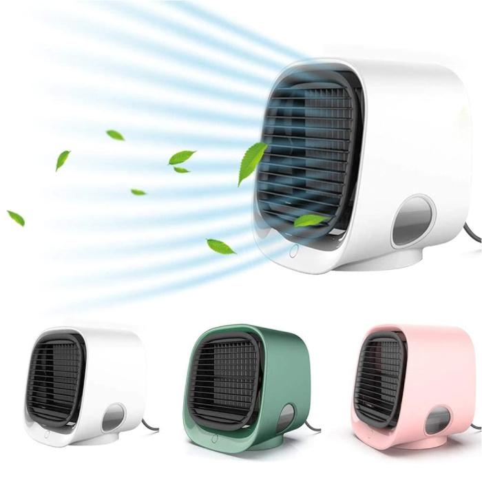 Stuff Certified® Climatiseur portable - Refroidissement par eau - Mini ventilateur / refroidisseur d'air blanc