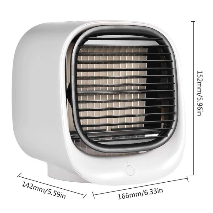 Stuff Certified® Climatiseur portable - eau de refroidissement - Mini ventilateur / refroidisseur d'air blanc