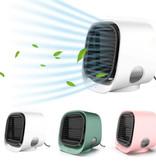 Stuff Certified® Draagbare Airconditioner - Water Koeling - Mini Ventilator/Luchtkoeler Groen