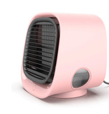 Stuff Certified® Portable Air Conditioner - Water Cooling - Mini Fan / Air Cooler Pink