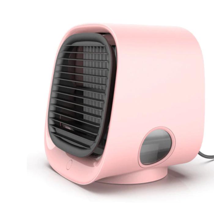 Climatiseur portable - Refroidissement par eau - Mini ventilateur / refroidisseur d'air Rose