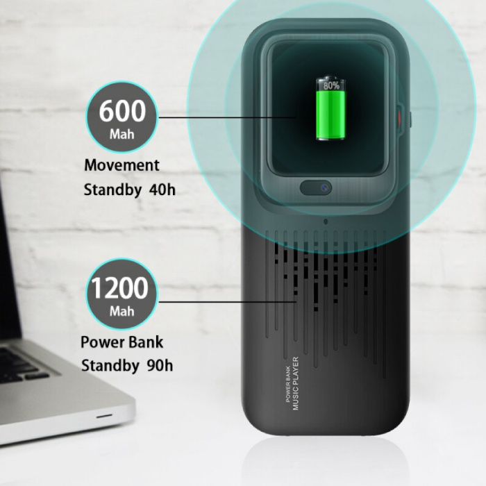 Lemfo Montre intelligente 3-en-1 LEM11 + haut-parleur sans fil / batterie externe iOS Android - 16 Go