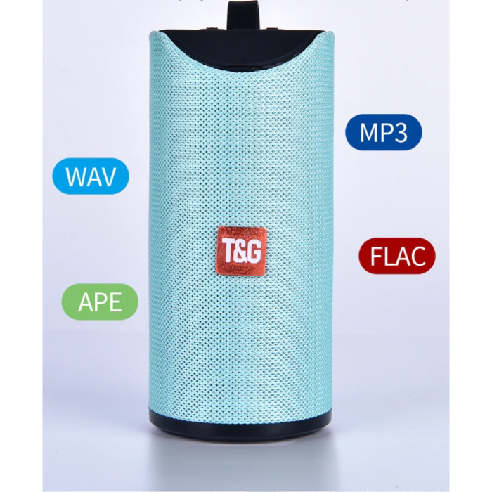 T & G Haut-parleur de barre de son sans fil TG-113 Boîte de haut-parleur sans fil Bluetooth 4.2 bleu