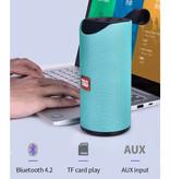 T & G Haut-parleur de barre de son sans fil TG-113 Boîte de haut-parleur sans fil Bluetooth 4.2 vert