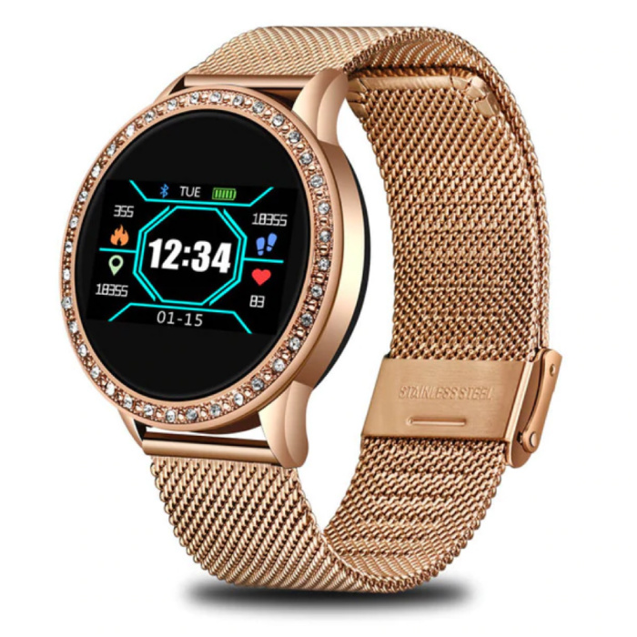 Fashion Sports Smartwatch Fitness Sport Activity Tracker Smartphone Horloge iOS Android - Goud