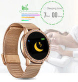 Lige Montre intelligente de sport de mode Fitness Sport Activity Tracker Montre Smartphone iOS Android - Or