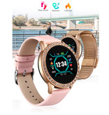 Lige Fashion Sports Smartwatch Fitness Sport Activity Tracker Smartphone Horloge iOS Android - Goud