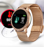 Lige Montre de sport de mode Smartwatch Fitness Sport Activity Tracker Montre Smartphone iOS Android - Rose
