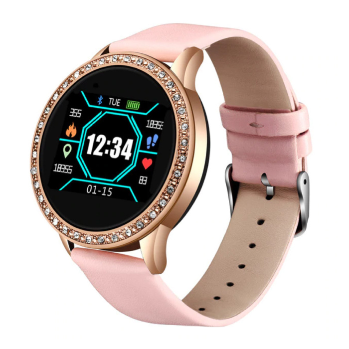 Fashion Sports Smartwatch Fitness Sport Activity Tracker Smartphone Horloge iOS Android - Roze