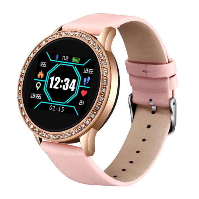 Mode Sport Smartwatch Fitness Sport Aktivität Tracker Smartphone Uhr iOS Android - Pink