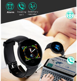 Arvin 2020 Smartwatch Smartband Fitness Tracker Sport Activity Horloge iOS Android Zwart