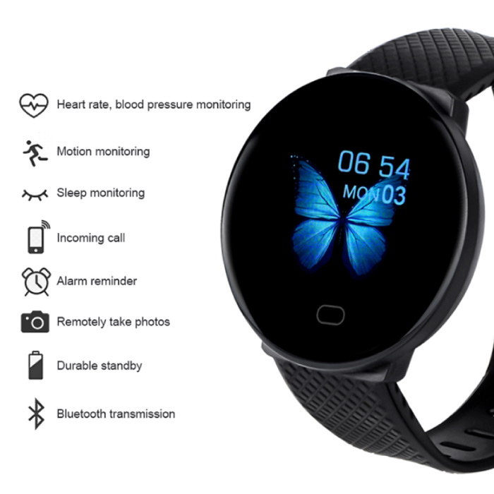 Arvin 2020 Smartwatch Smartband Fitness Tracker Montre d'activité sportive iOS Android Rouge