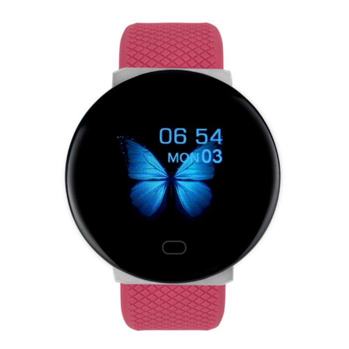 2020 SmartWatch intelligente Band Fitness Tracker Sport Activité Red Watch iOS Android