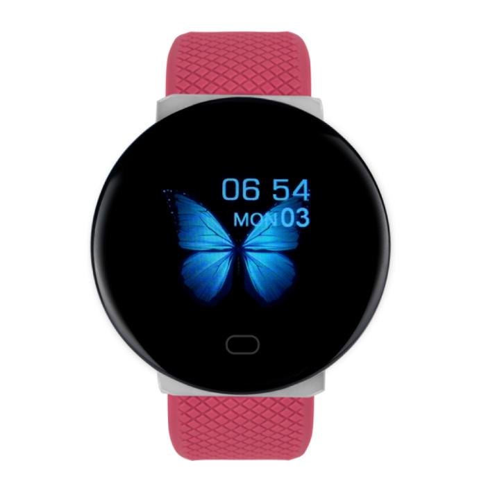 2020 Smartwatch Smartband Fitness Tracker Montre d'activité sportive iOS Android Rouge