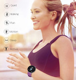 Arvin 2020 Smartwatch Smartband Fitness Tracker Montre d'activité sportive iOS Android Rose