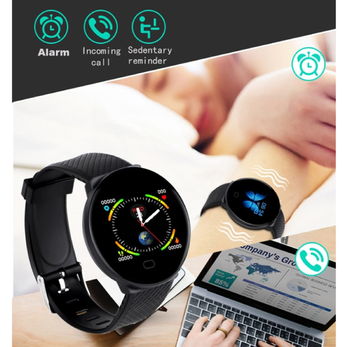 Arvin 2020 SmartWatch intelligente Band Fitness Tracker Sport activité Regarder Rose iOS Android