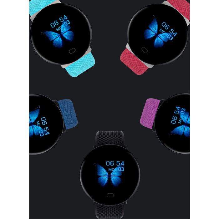 Arvin 2020 Smartwatch Smartband Fitness Tracker Sport Activity Horloge iOS Android Roze