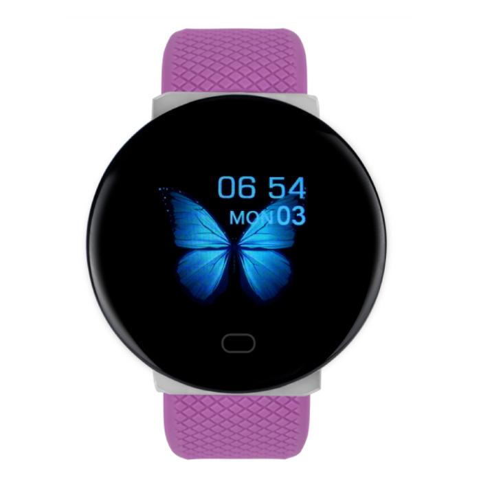2020 Smartwatch Smartband Fitness Tracker Montre d'activité sportive iOS Android Rose