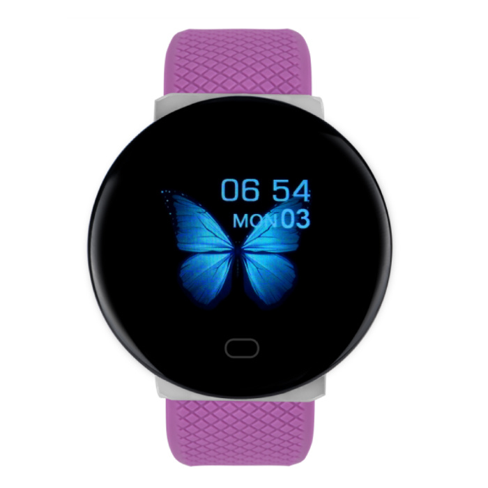 Arvin 2020 Smartwatch Smartband Fitness Tracker Sport Activity Watch iOS Android Pink