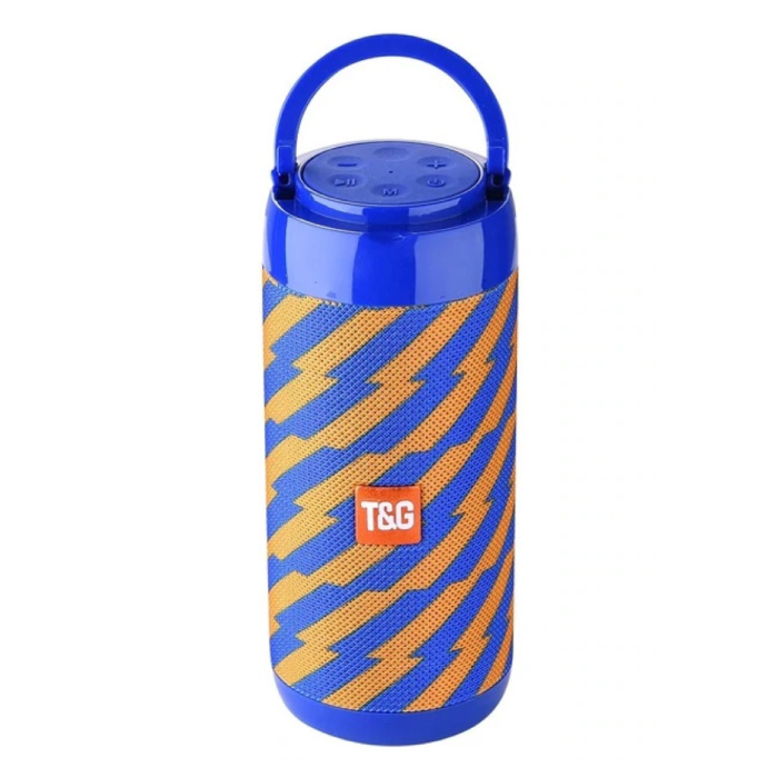 TG-113C Draadloze Soundbar Luidspreker Wireless Bluetooth 4.2 Speaker Box Oranje-Blauw
