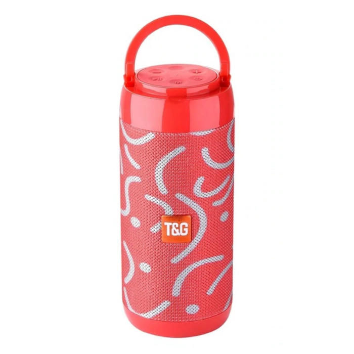 Haut-parleur de barre de son sans fil TG-113C Boîte de haut-parleur sans fil Bluetooth 4.2 blanc-rouge