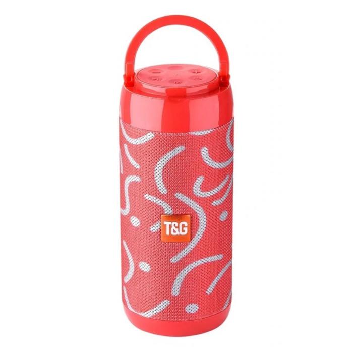 TG-113C Wireless Soundbar-Lautsprecher Wireless Bluetooth 4.2-Lautsprecherbox Weiß-Rot