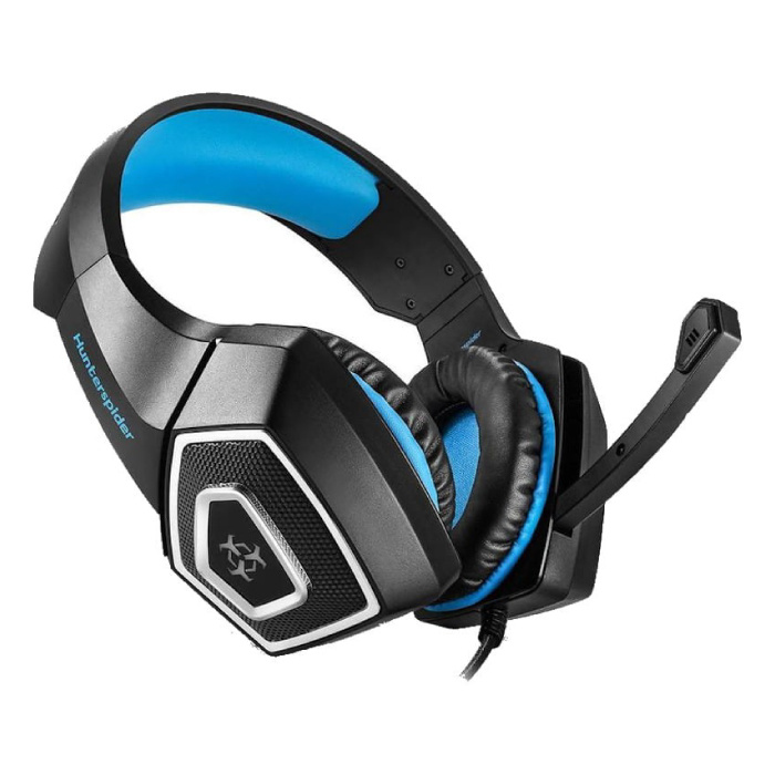 Hunterspider V1 Gaming Headset Stereo Earphones Headphones with Microphone for PlayStation 4 / PC / Xbox Blue
