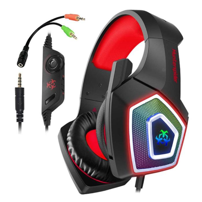 V1 Gaming Headset Stereo Koptelefoon Headphones met Microfoon PlayStation 4 / PC / Xbox Rood