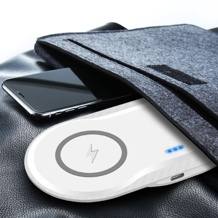 Stuff Certified® 2 en 1 Qi chargeur universel sans fil 10W de charge sans fil Pad blanc