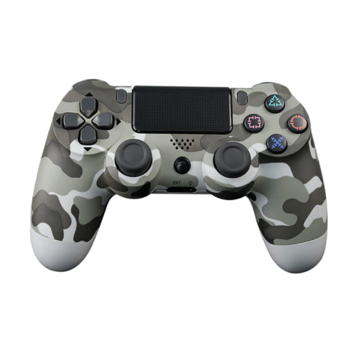 Gaming Controller für PlayStation 4 - PS4 Bluetooth Gamepad mit Vibration Grey Camo