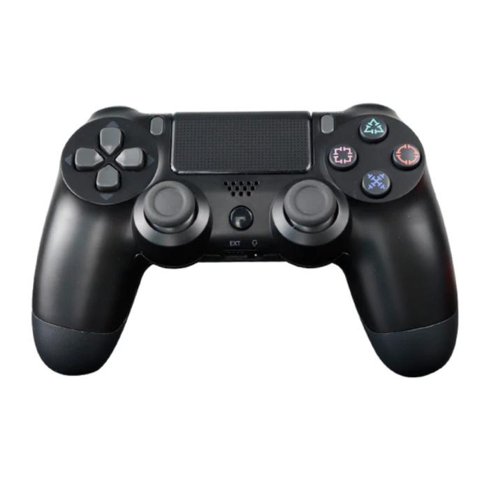 Manette de jeu pour PlayStation 4 - Manette de jeu Bluetooth PS4 avec vibration noire