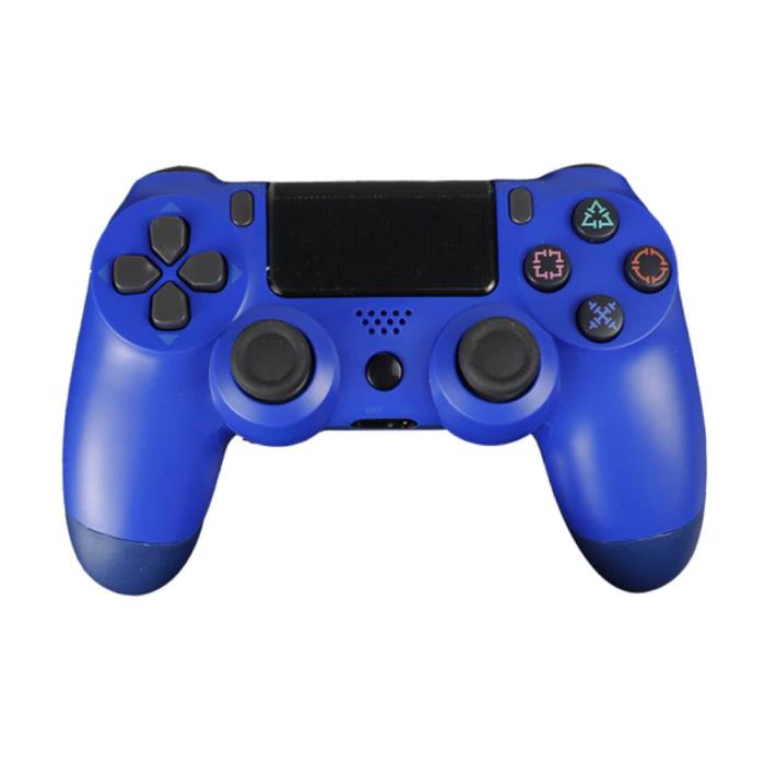 Manette de jeu pour PlayStation 4 - Manette de jeu Bluetooth PS4 avec Vibration Blue